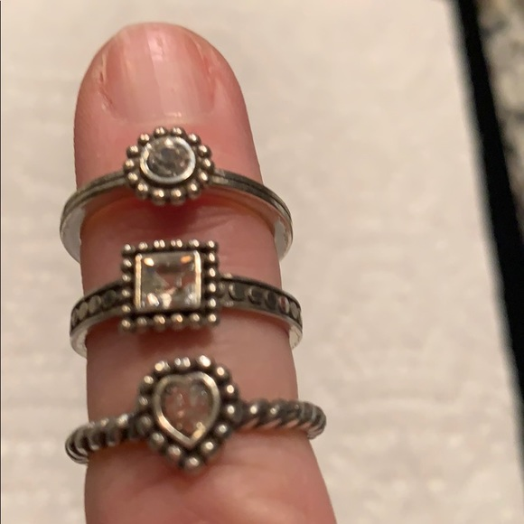 Brighton Jewelry - 3 BRIGHTON STERLING SILVER RINGS